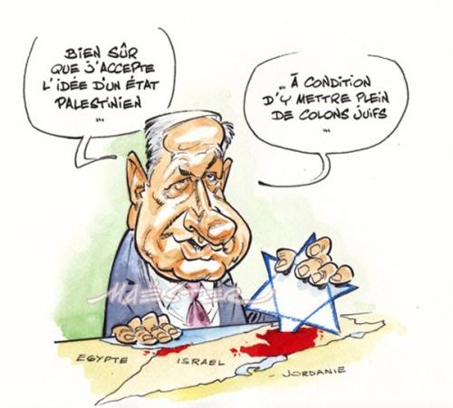 A RIRE OU EN PLEURER OU REVUE DE PRESSE SATIRIQUE - Page 13 Netanyaou